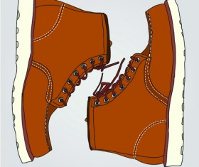Creative low shoe vector graphics 03