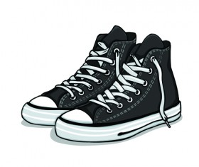 Creative low shoe vector graphics 04
