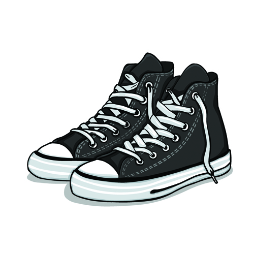 Creative low shoe vector graphics 04