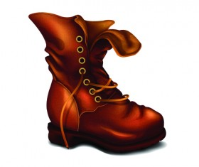 Creative low shoe vector graphics 05