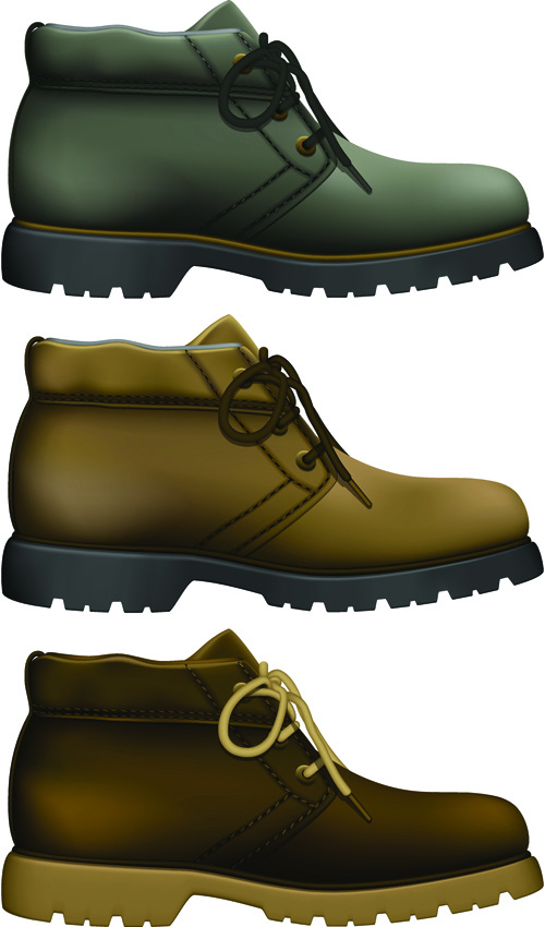 Creative low shoe vector graphics 06