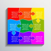 Creative puzzle infographic template vector 01