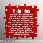 Creative puzzle infographic template vector 02