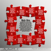 Creative puzzle infographic template vector 03