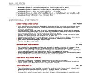 Creative resume template design vector material 01