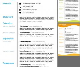 Creative resume template design vector material 03