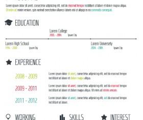 Creative resume template design vector material 04