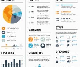 Creative resume template design vector material 05