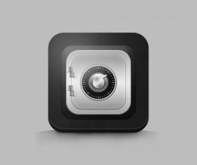 Creative strongbox icon