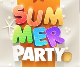 Creative summer party poster design vecor 01