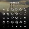Creative weather app icons