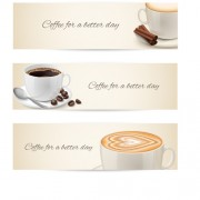 Link toCup of coffee vector banner graphics