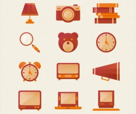 Cute life icons psd material