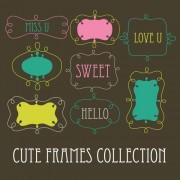 Link toCute sweet frames set vector graphics 03