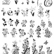 Link toDecoration with ornaments floral vector graphics