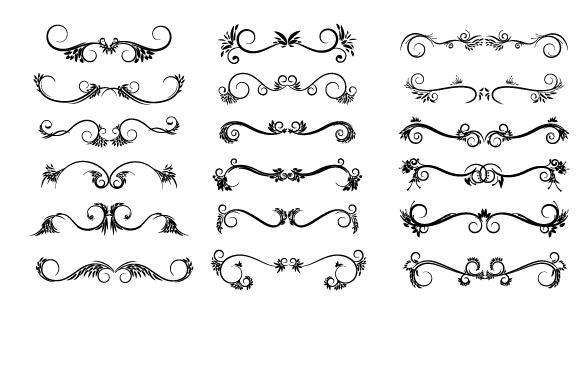 decorative floral design pack vector material 02 free download