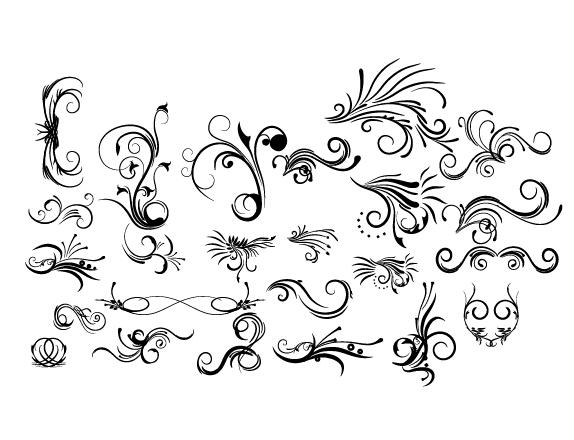 decorative floral design pack vector material 07 free download