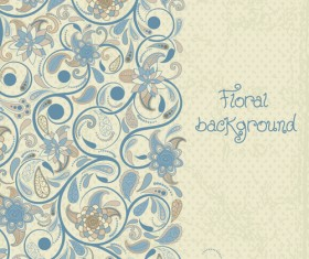 Decorative pattern floral art background vector 03