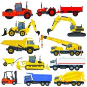 Link toDifferent construction vehicles creative vector