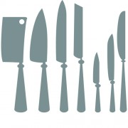 Different kitchen cutlery silhouette vector 01