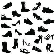 Link toDifferent shoes design vector silhouette 01