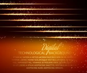 Digital technology creative background vector set 01