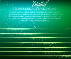 Digital technology creative background vector set 02