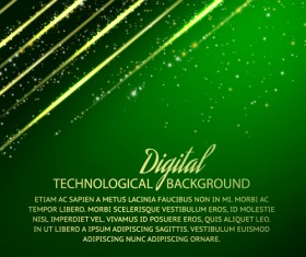 Digital technology creative background vector set 03