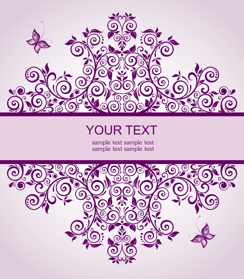Elegant floral decor wedding invitation cards vector 01 vector elegant floral decor wedding invitation cards vector 01 junglespirit Image collections