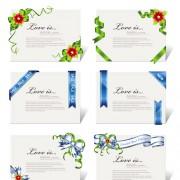 Link toElegant ribbon invitations cards vector material