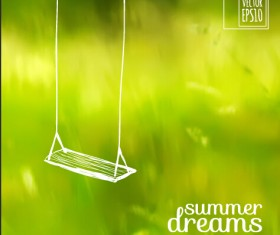 Elegant summer dreams vector background art 02