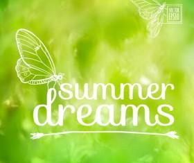 Elegant summer dreams vector background art 04