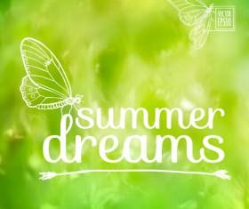 Elegant summer dreams vector background art 05