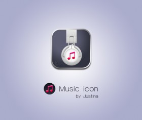 Exquisite music psd icon