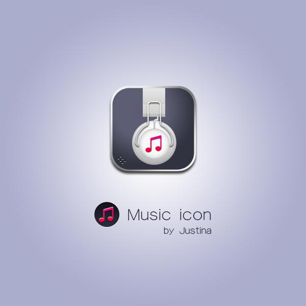 Exquisite music psd icon