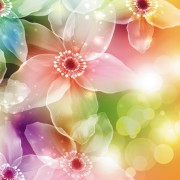 Link toFantasy flowers shiny vector background 01