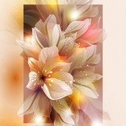 Link toFantasy flowers shiny vector background 04