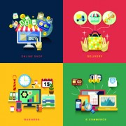 Link toFlat infographics icons creative vector 05