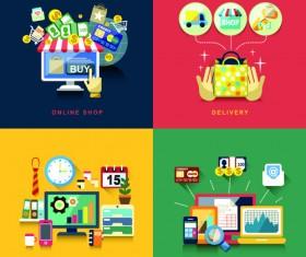 Flat infographics icons creative vector 05