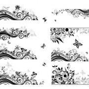 Link toFloral border with butterflies design vector