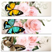 Link toFlowers and butterflies banners vectors 02