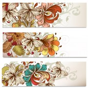 Link toFlowers and butterflies banners vectors 03