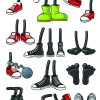 Funny cartoon shoes vector graphics
