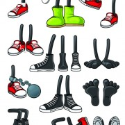Link toFunny cartoon shoes vector graphics