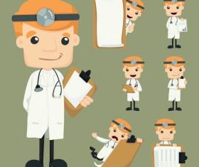 Funny doctor character vectors graphics 02