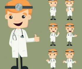 Funny doctor character vectors graphics 03