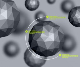 Geometric polygonal objects vector background 02