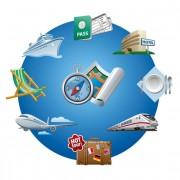 Link toGlobal travel elements creative design vector