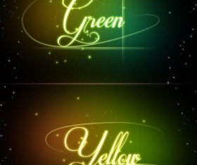 Glowing text effects psd material