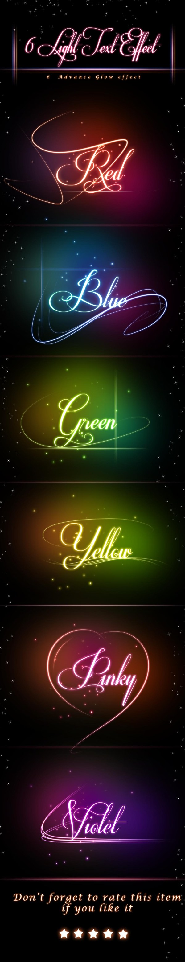 Glowing text effects psd material free download